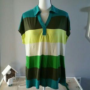 Liz Claiborne color block polo style 2X